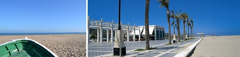 Malvarossa strand Valencia