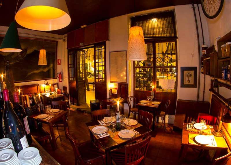 studiereis restaurants Lambrusqueria binnenkant restaurant