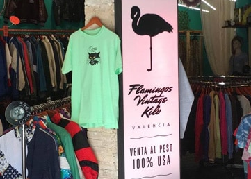 Flamingos vintage kilo fashion