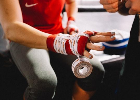 boksen, handbescherming