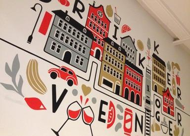Vegetarisch restaurant Oslo decoratie