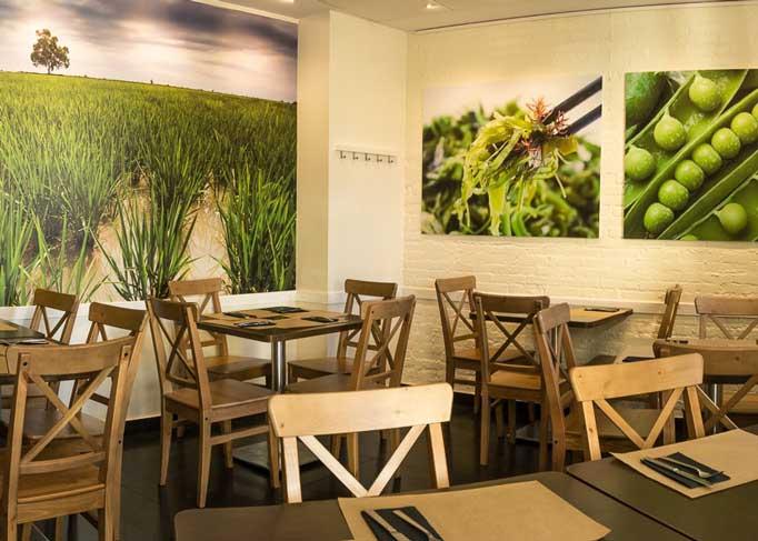 Vegetarisch restaurant La Tastaolletes binnenkant