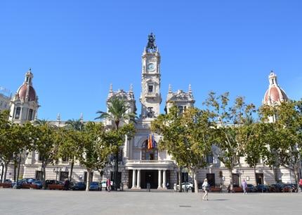 Plaza Ayuntamiento in Valencia