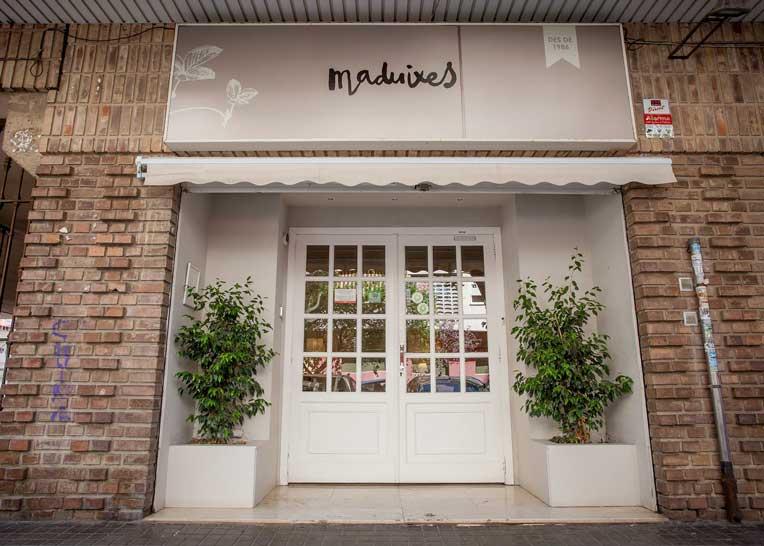 Vegetarisch restaurant Les Maduixes buitenkant