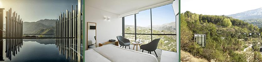 Het prachtige Vivood Hotel in Guadalest!